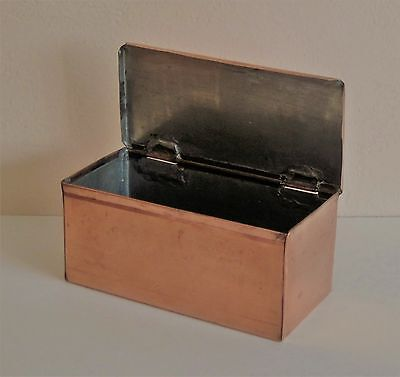 Handmade Copper Box with Hinged Lid Excellent Workmanship