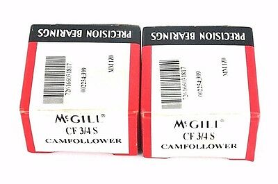 Lot Of 2 Nib Mcgill Cf-3/4-S Cam Followers Cf3/4S