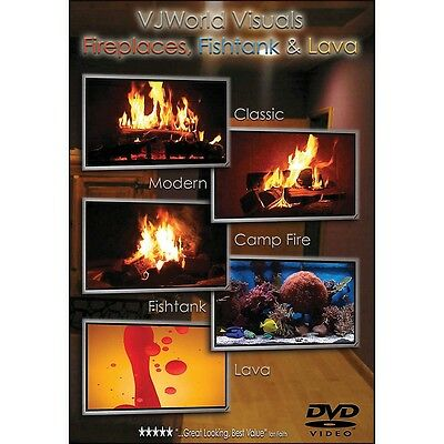 Hal Leonard Vj Visuals Fireplaces Fishtank & Lava DVD