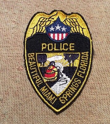 FL Miami Springs Florida Police Patch (3In)