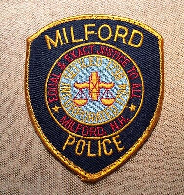 NH Milford New Hampshire Police Patch