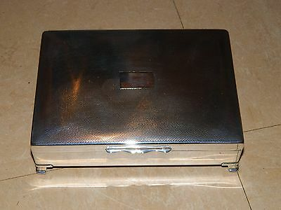 Aristocrat Vintage Art Deco Silver Plate Cigarette/Jewellery Box Made In England