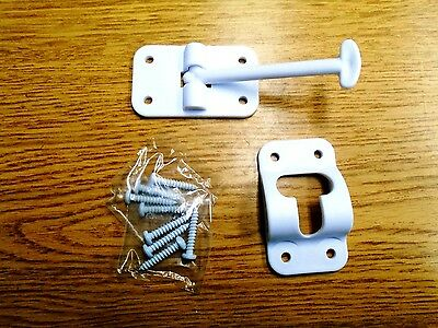JR Products 10414 3-1//2 Polar White Plastic T-Style Door Holder