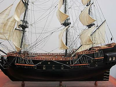 "BLACK PEARL pirate ship 39"" handcrafted wood model tall ship large scale NEW"