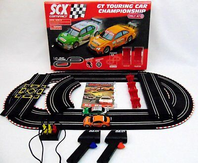 SCX Compact GT Touring Car Championship 1:43 Race Slot Car Set SEE VIDEO!