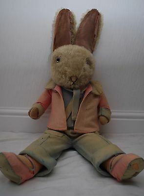 Extremely Rare 1930's 3ft Dressed Merrythought Character Toy Rabbit With Labels