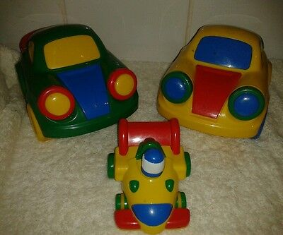 2 x Rare Large Little Tikes Push and go toys Standard car to show scale only.