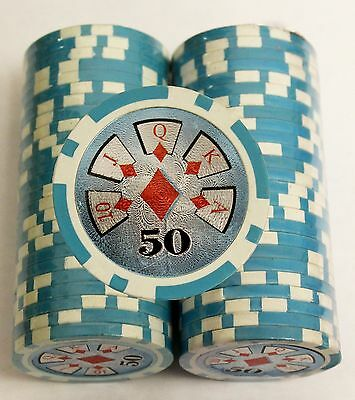 50 Pcs Poker CHIPS Ultimate Worth 50 CHIP Poker Spare Jeton Casino Accessories
