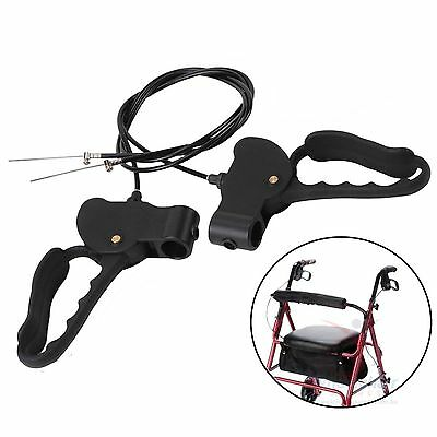 Walking Frame Brake Lever Cable Set Walker Rollator Disabled Scooter Wheelchair