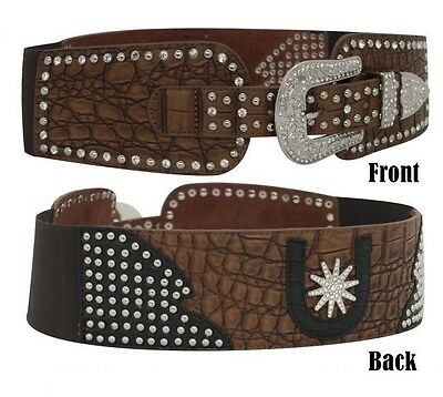 Showman Ladies' Couture Western Belt Horse Tack Equine BE56