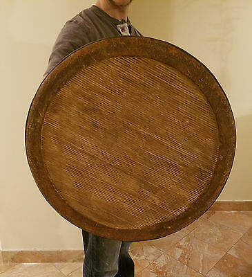 Wooden 23inch Movie Used Prop Shield 23 inch with straps sca/larp/norse/celtic