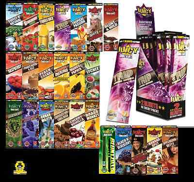 25 X Variety Packs Juicy Jays Flavored Double Blunt Wraps Cigar Rolling Paper