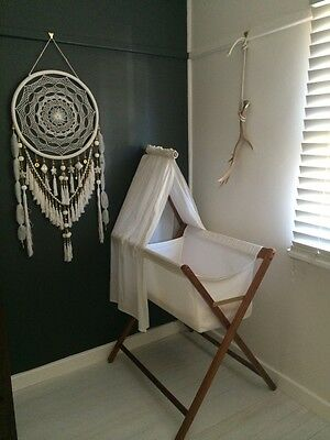 Large White Dream Catcher - home decor and child & baby nursery decor