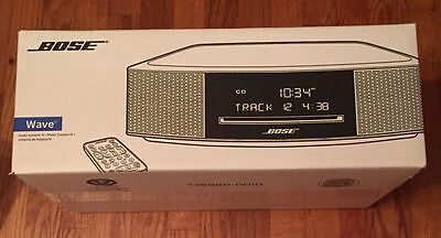 Bose Wave Music System IV with Remote Control, Espresso Black Brand New Sealed