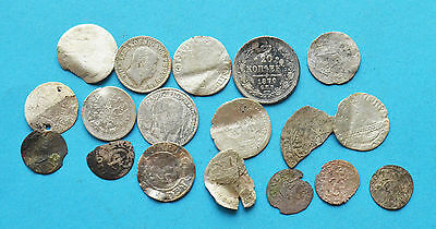 Mixed lot of Russian & European silver coins
