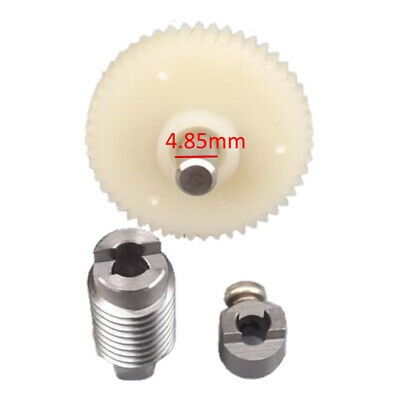 White Worm Reduction Gear Set Plastic Mental Steel Motor Gear for DIY