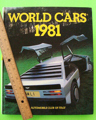 WORLD CARS 1981 Hardcover 440-pgs PHOTOS Specs PRICES Technical Data OPTIONS wow