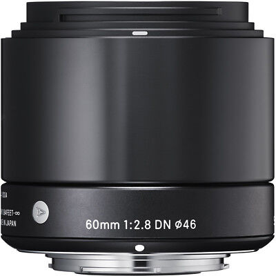 Sigma 60mm F2.8 DN 'A' Lens - Micro FourThirds Fit in Black