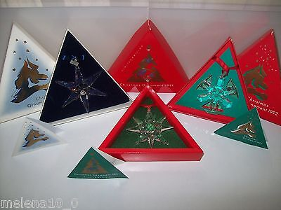 Swarovski Christmas Ornament Set 1991 Until 2015 All Complete In Box And Cert