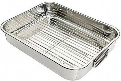 Kitchen Craft Stainless Steel 43cm Roasting Pan With Removable Rack