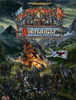BIRTHRIGHT CAMPAIGN SETTING VF! #3100 Birth Right Boxed Set Dungeons Dragons D&D