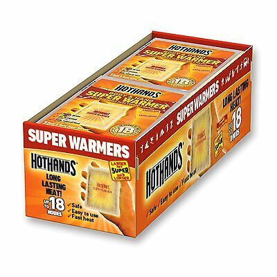 Hand Warmers Body Super 40 Count 18 Hours Heat Value Pack Hunting New HotHands