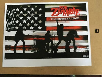 "Rob Zombie ""sinister urge"". original promo poster"