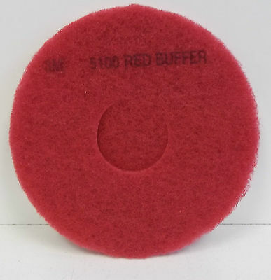"3M 11"" Red Buffer Pads.5100. Box of 5 New"