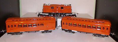Mth Ives 3243R 1156A-1 Orange Electric Passenger Set Ps-2 With 187/188 Cars Mib