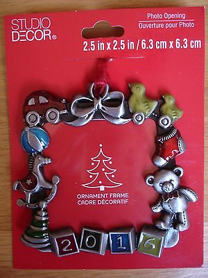2016 Christmas Ornament Baby's First Christmas Toys Photo Picture Frame