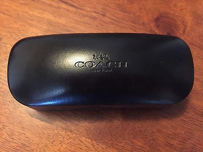 New COACH Sunglasses/Glasses Cases Black Clamshell Hard - RZ70