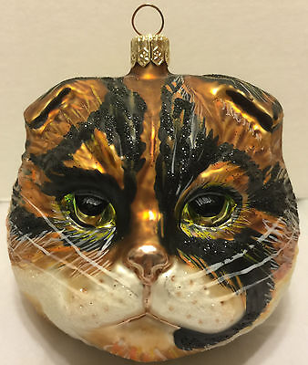 Slavic Treasures Patches the Cat Breeds Christmas Ornament Tree Figurine Glass