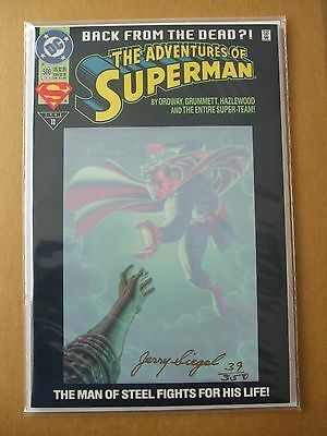 JERRY SIEGEL RARE SIGNED SUPERMAN #500 COMIC Signed #39 of 350