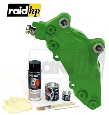 (9,45€/100ml) RAID HP color de silla freno - asiento - VERDE brillosa 6 Piezas