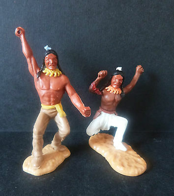 Timpo Indians X2 * Swoppet * Vintage * Rare * Cowboys And Indians