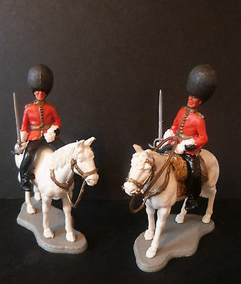 TIMPO SCOTS GUARDS ON PARADE x2  * MOUNTED OFFICERS * SWOPPET * VINTAGE 1970s