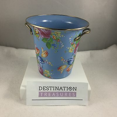MacKenzie Childs Flower Market Wine Cooler Ice Bucket Blue Used Once