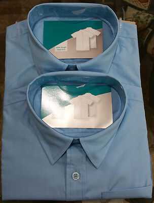 School uniform SIZE 8 Shirt BLUE Short Sleeve (set of 2)