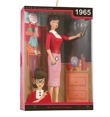 2012 Hallmark BARBIE Ornament STUDENT TEACHER BARBIE 1965 *Priority Shipping