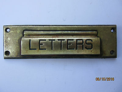 Vintage Mailbox Cover Slot Solid Brass Circa 1930