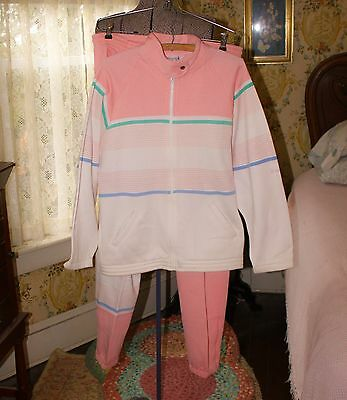 Le Cog Sportif Woman Vintage Sweatpants & Jacket Pink (Med) Heavyweight