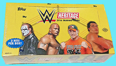 2016 TOPPS WWE HERITAGE WRESTLING HOBBY BOX FACTORY SEALED NEW Trading Cards