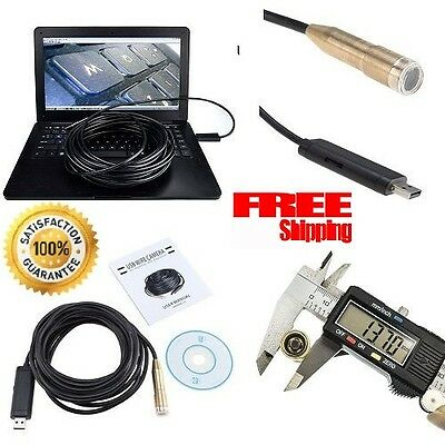 Sewer Inspection Camera Tube Sonde 30 FT USB Waterproof Pipe Video Drain Cleaner
