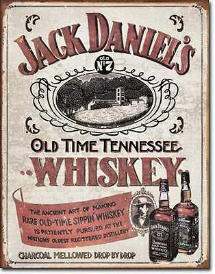 Jack Daniels - Sipping Whiskey  Rustic Tin Metal Sign