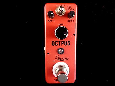 Rowin Lef-3806 Mini Octpus (Octaver) Effect Pedal For Guitar With True By Pass