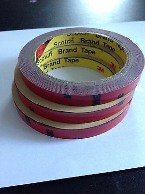 UK Stock 3M [ 3x ] 10mm x 3m Double Sided Tape