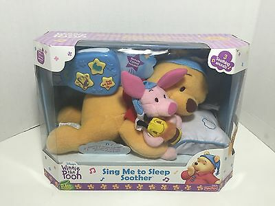 New Fisher Price Winnie The Pooh Sing Me To Sleep Soother 2000 Unused Box Fair