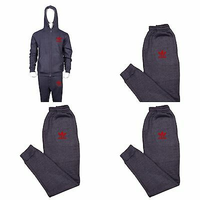 ADIDAS  MEN FLEECE FULL SLIM FIT TRACKSUIT SIZE S M L XL CHARCOAL AND Black