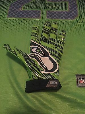 Brandon Williams Seattle Seahawks NFL Game Worn Game Used Glove Color Rush