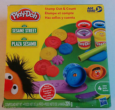 Play-Doh Sesame Street Stamp Out & Count NIB NEW Play Set Ernie Count Elmo 2010